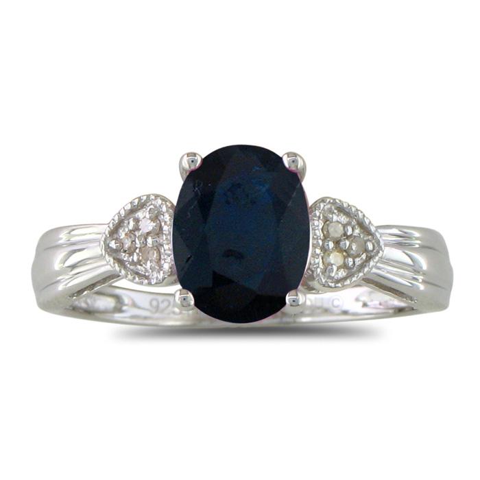 3 4ct Sapphire And Diamond Ring Superjeweler Com