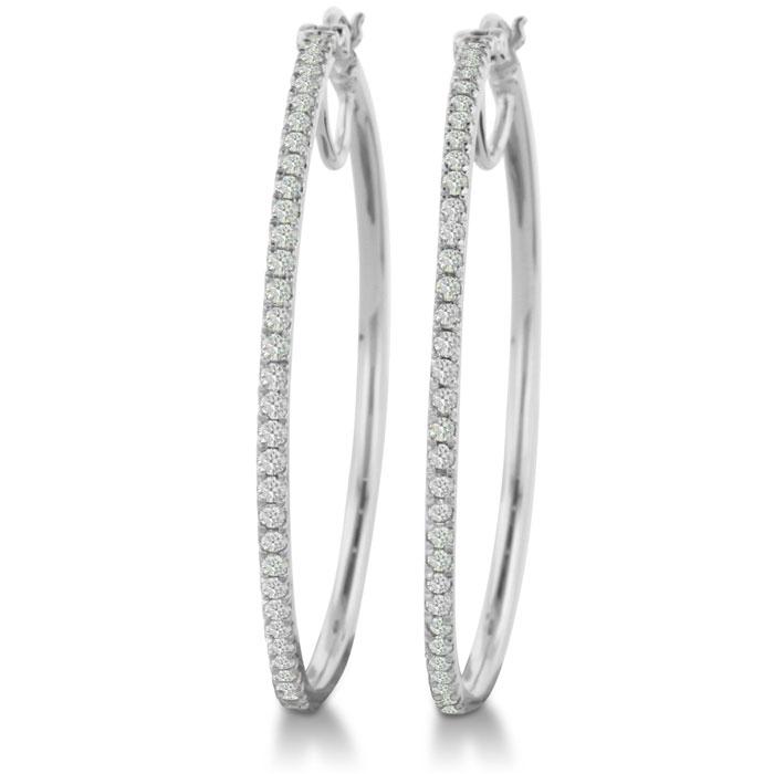1ct Diamond Hoop Earrings