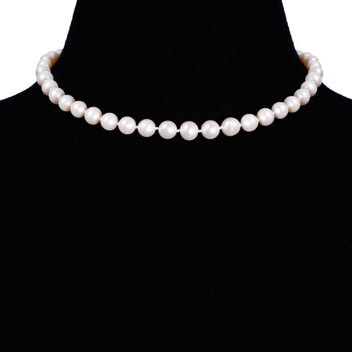 jewelpearl.com view the photo of  16 inch 8mm AAA Pearl Necklace with 14k Yellow Gold Clasp