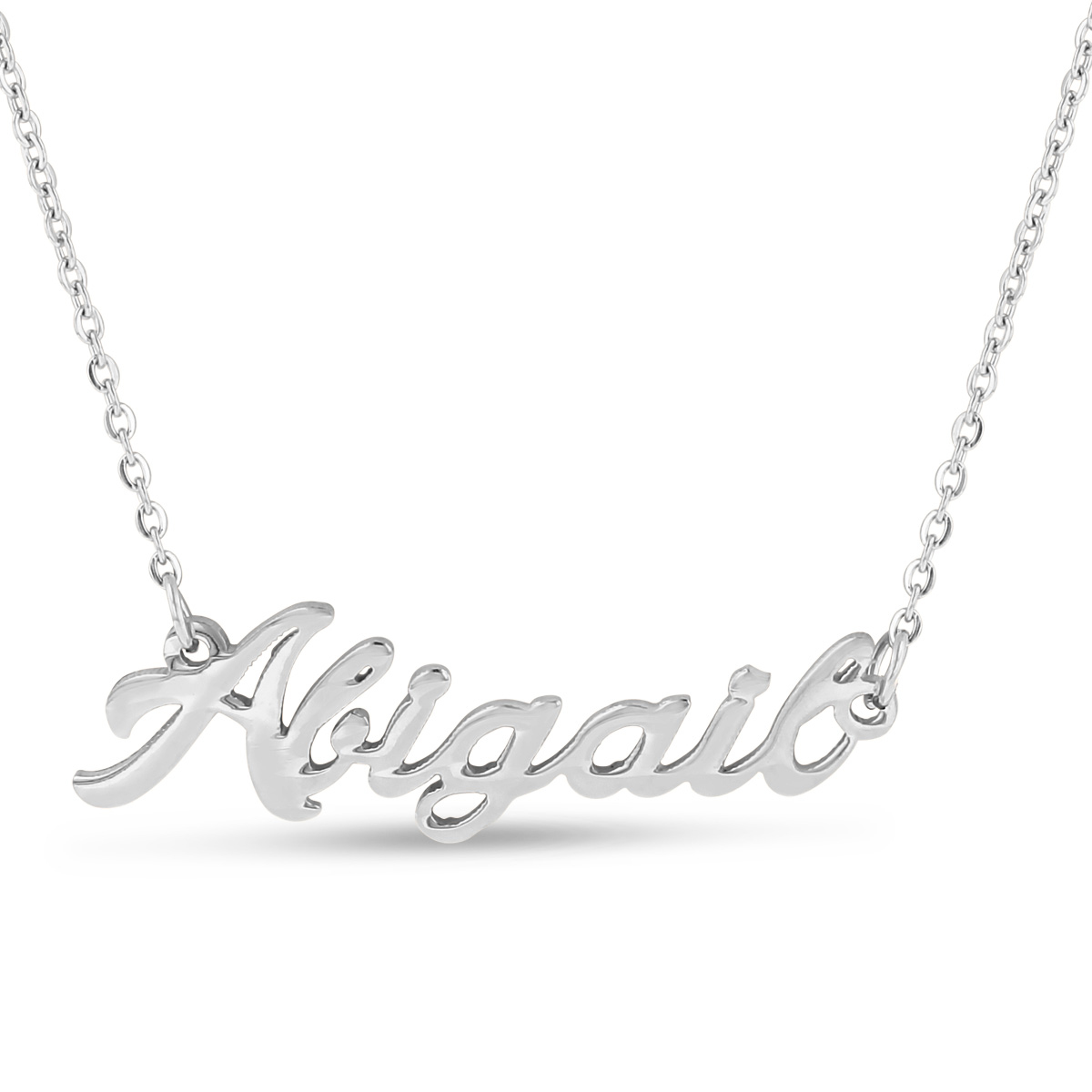 Personalized name necklace silvergold plated 100 names personalized name necklace silver gold plated 100 names aloadofball Images