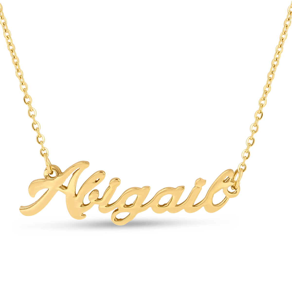 Personalized name necklace silver gold plated 100 names for Silver jewelry repair indianapolis