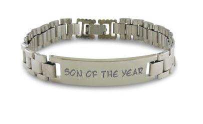 PERSONALIZED ENGRAVING 8.5 Inch Men's Stainless Steel ID Bracelet